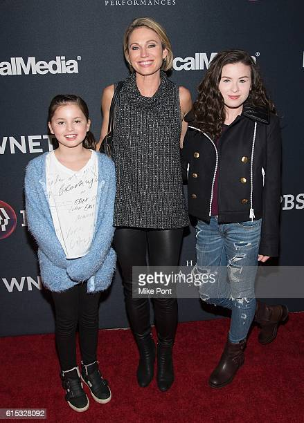 Annalise Mcintosh Amy Robach and Ava Mcintosh attend Great Performances Hamilton's America at United Palace Theater on October 17 2016 in New York...