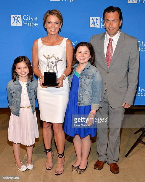 Annalise Mcintosh Amy Robach Ava Mcintosh and actor Andrew Shue attend 2014 Spirit Of Life Awards Luncheon at The Plaza Hotel on May 5 2014 in New...