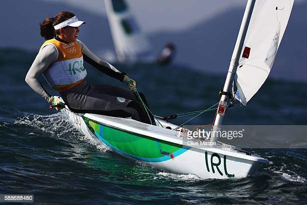 Annalise Murphy of Ireland competes in Women's Laser Radial class on Day 7 of the Rio 2016 Olympic Games at Marina da Gloria on August 12 2016 in Rio...