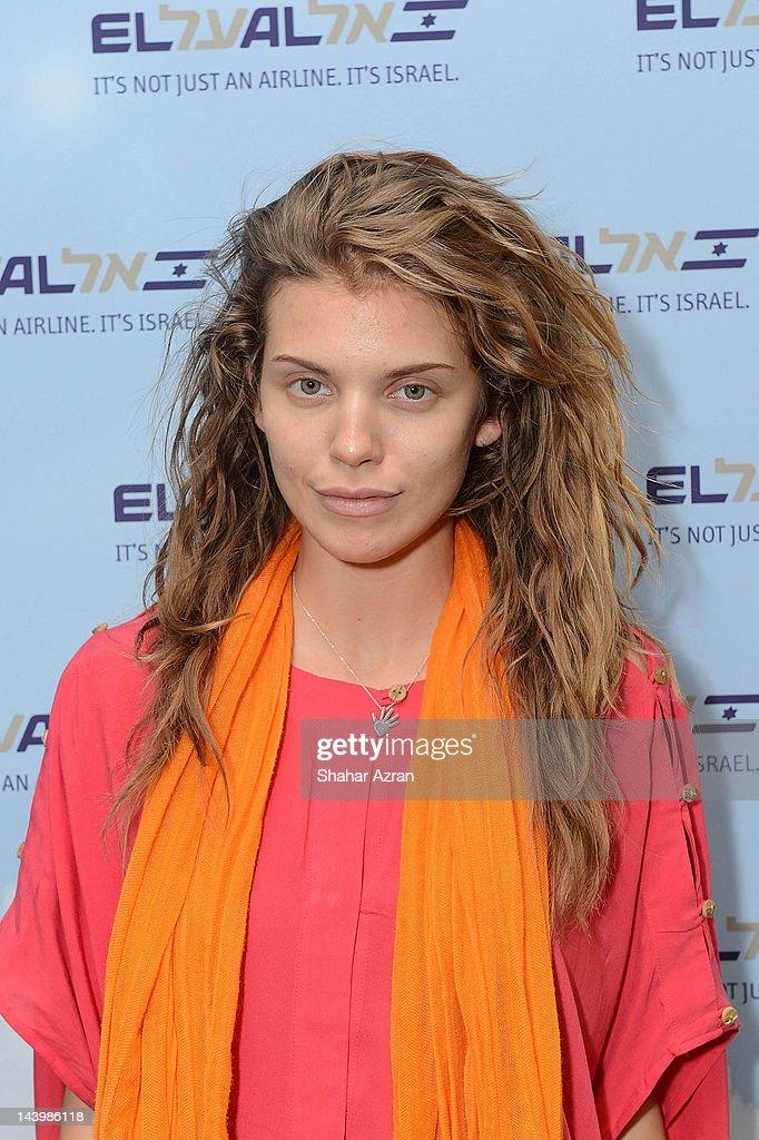 Annalyne Mc Cord seen at JFK Airport on May 6, 2012 in New York City.