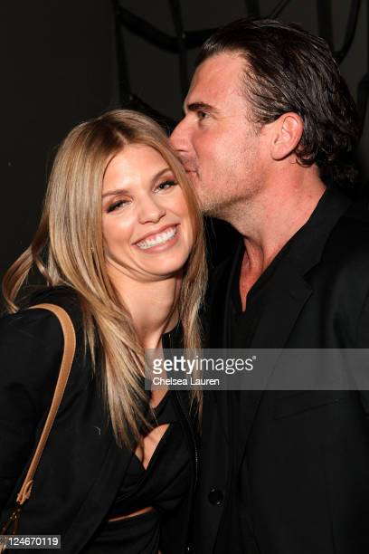 Annalynne McCord and Dominic Purcell attend Eva Minge Spring Summer 2012 fashion show at Good Units at Hudson Hotel on September 10 2011 in New York...