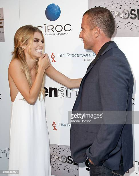 AnnaLynne McCord and Dominic Purcell attend the screening of AnnaLynne McCord's 'I Choose' at Harmony Gold Theatre on June 10 2014 in Los Angeles...