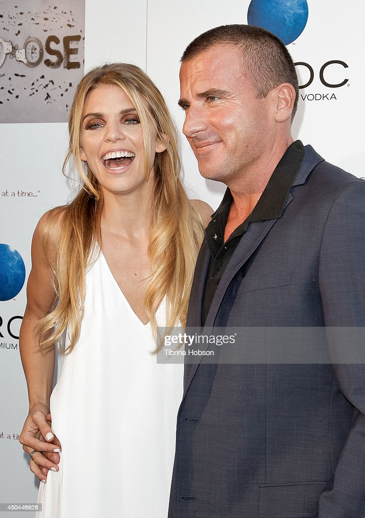 AnnaLynne McCord and Dominic Purcell attend the screening of AnnaLynne McCord's 'I Choose' at Harmony Gold Theatre on June 10, 2014 in Los Angeles, California.