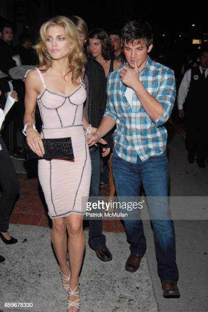 AnnaLynne McCord and Matt Lanter attend 90210 SEASON WRAP PARTY at Coco de Ville on March 21 2009 in West Hollywood California