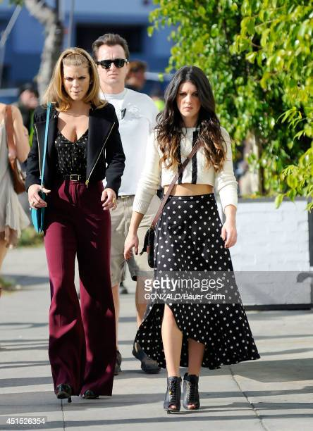 AnnaLynne McCord and Shenae Grimes are seen on the set of '90210' on January 06 2012 in Los Angeles California