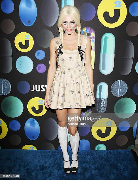 AnnaLynne McCord arrives at the Just Jared Halloween Party held at No Vacancy on October 31 2015 in Los Angeles California