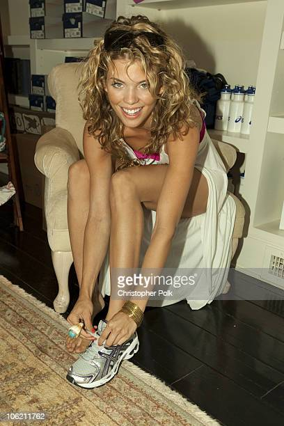 Annalynne McCord at the McCord Sisters BBQ at ASICS Beach House in Malibu CA on July 18 2009