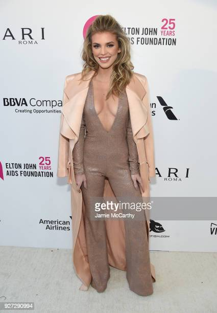 AnnaLynne McCord attends the 26th annual Elton John AIDS Foundation Academy Awards Viewing Party sponsored by Bulgari celebrating EJAF and the 90th...