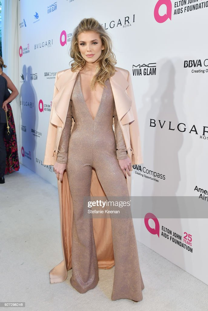 AnnaLynne McCord attends the 26th annual Elton John AIDS Foundation Academy Awards Viewing Party sponsored by Bulgari, celebrating EJAF and the 90th Academy Awards at The City of West Hollywood Park on March 4, 2018 in West Hollywood, California.