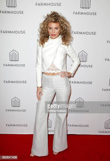 AnnaLynne McCord attends the grand opening of FARMHOUSE Los Angeles on March 15 2018 in Los Angeles California