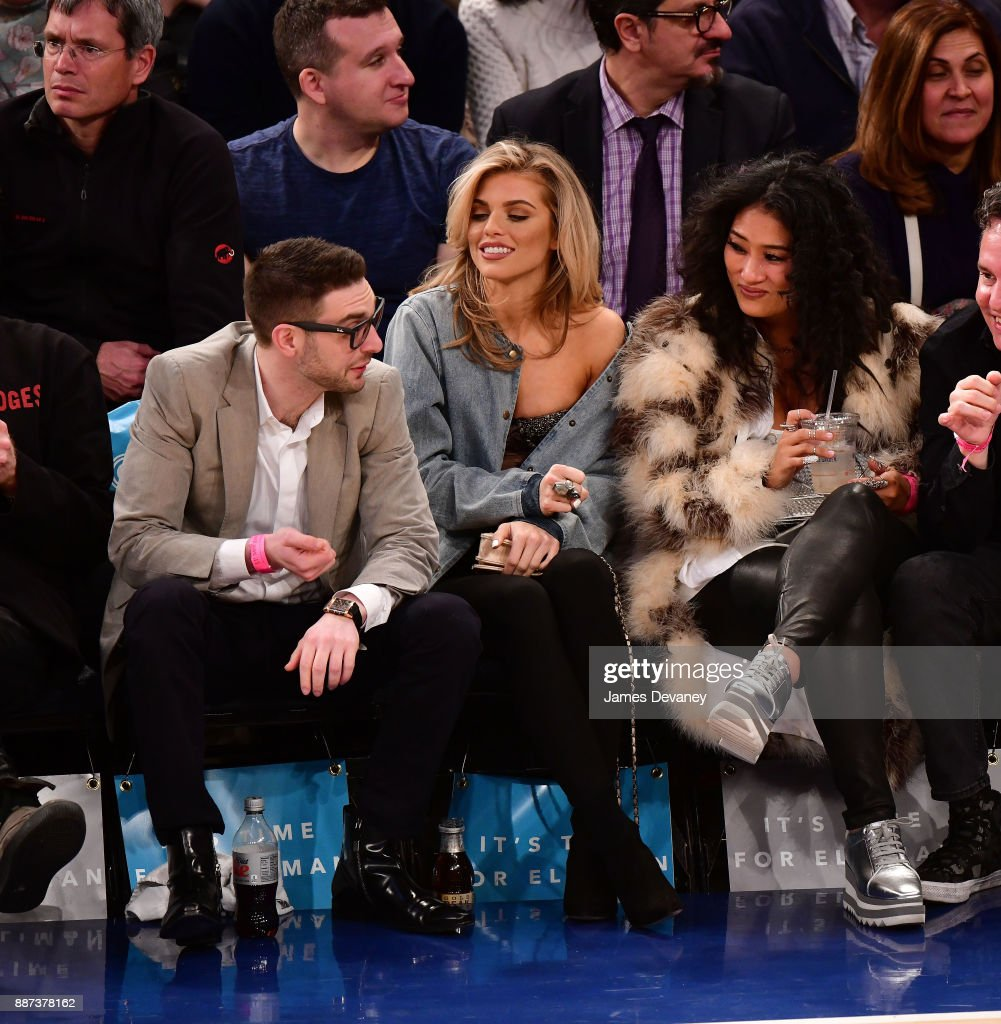 AnnaLynne McCord attends the Memphis Grizzlies Vs New York Knicks game at Madison Square Garden on December 6, 2017 in New York City.