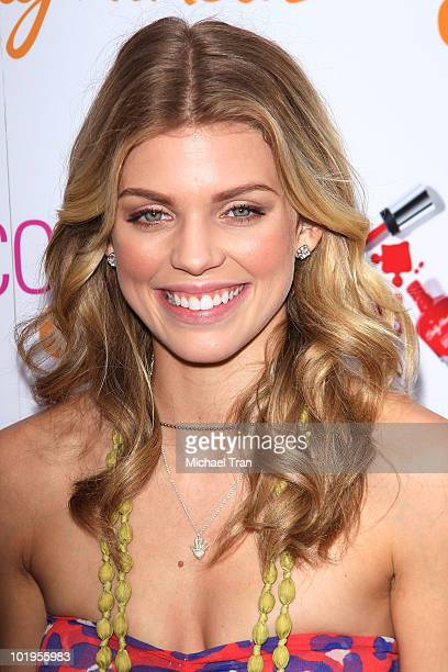 AnnaLynne McCord attends the Sally Hansen manicures charity event to benefit DKMS held at Hollywood Highland Courtyard on June 10 2010 in Hollywood...