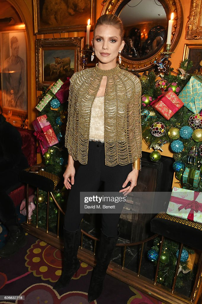 AnnaLynne McCord attends the Sunday Times Style Christmas Party at Annabel's on November 30, 2016 in London, England.