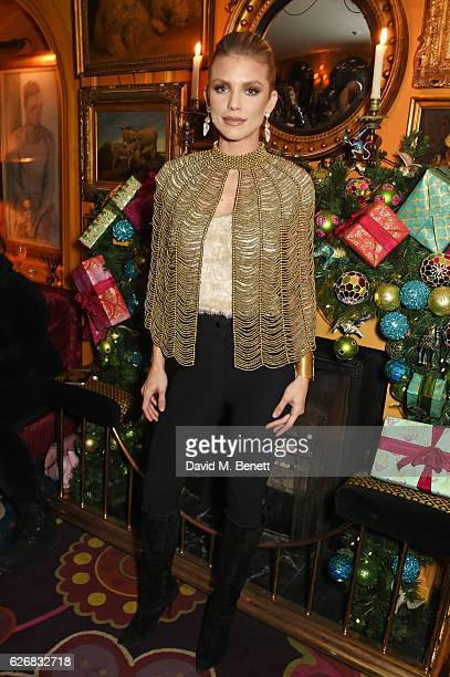AnnaLynne McCord attends the Sunday Times Style Christmas Party at Annabel's on November 30 2016 in London England