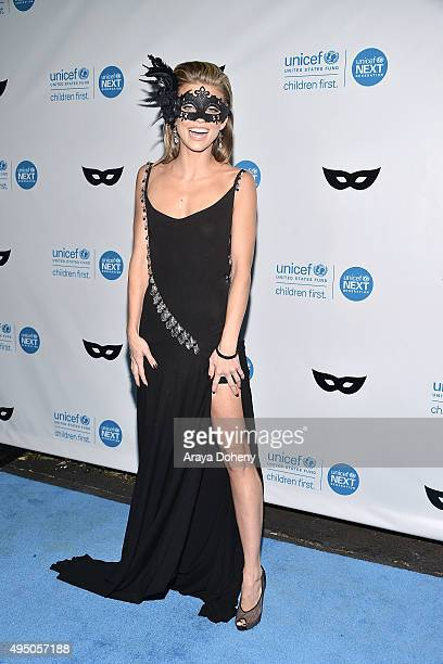 AnnaLynne McCord attends the UNICEF Black White Masquerade Ball at The Masonic Lodge at Hollywood Forever on October 30 2015 in Los Angeles California
