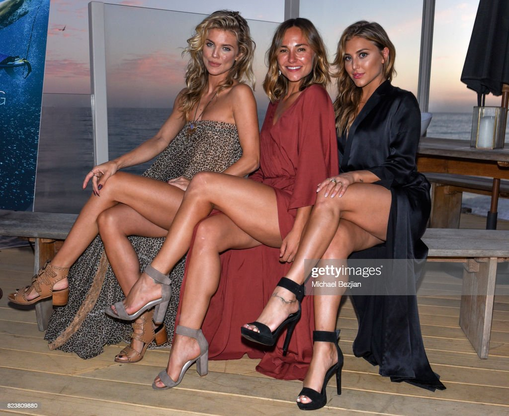 AnnaLynne McCord, Briana Evigan and Cassie Scerbo attend 'The Awakening Sea' Launch Party By Rowena Patterson on July 27, 2017 in Malibu, California.