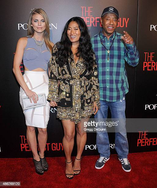 AnnaLynne McCord Chloe Flower and Russell Simmons arrive at the premiere of Screen Gems' The Perfect Guy at The WGA Theater on September 2 2015 in...