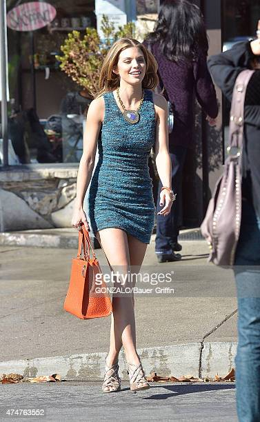 AnnaLynne McCord is seen on the set of '90210' on November 12 2012 in Los Angeles California