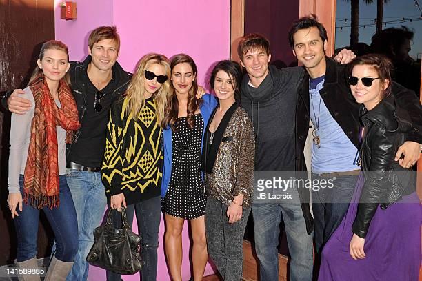 AnnaLynne McCord Justin Deeley Gillian Zinser Jessica Lowndes Shenae Grimes Matt Lanter Michael Steger and Jessica Stroup attend the 90210 Season 4...