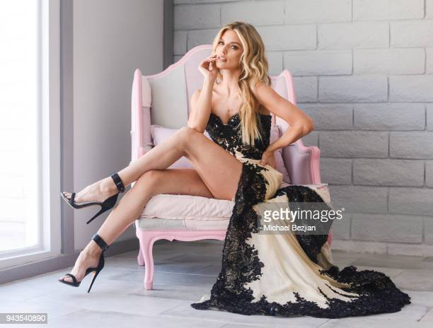 AnnaLynne McCord poses for a portrait during a behind the scenes photo shoot at AnnaLynne McCord's 'Makeup Art And War' on April 8 2018 in Los...