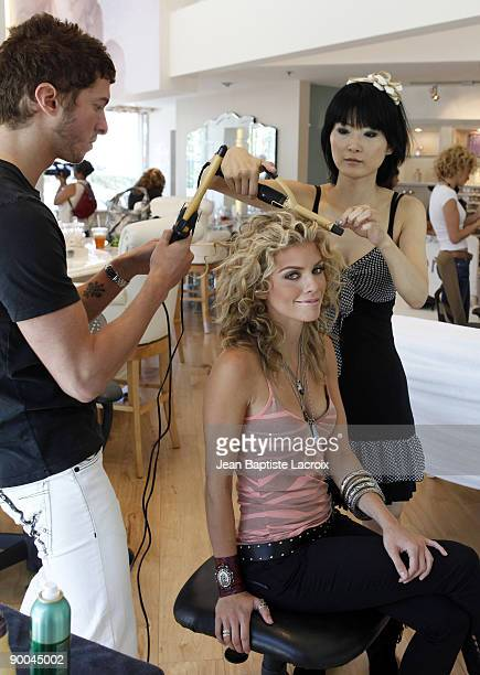 Annalynne McCord stops by Valerie Beauty Shop in Beverly Hills on August 23 2009 in Los Angeles California