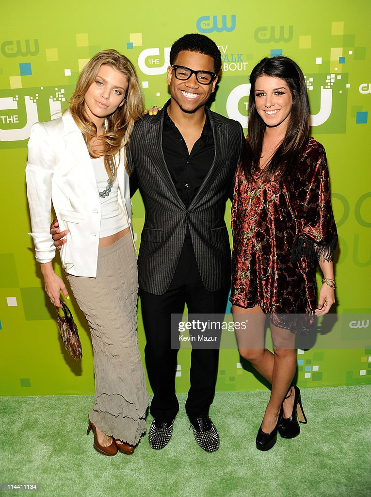 AnnaLynne McCord, Tristan Wilds and Shenae Grimes attend the CW Network's 2011 Upfront at Jazz at Lincoln Center on May 19, 2011 in New York City.