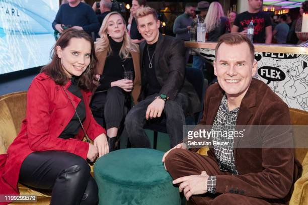 AnnaMaria Arkona a guest Lukas Sauer and Malte Arkona attend the PEARL Model Management Fashion Aperitif at The Reed on January 13 2020 in Berlin...