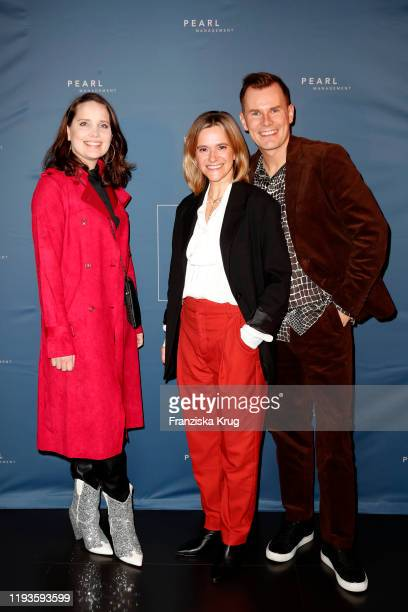 AnnaMaria Arkona Anja Tillack and Malte Arkona during the PEARL Model Management Fashion Aperitif at The Reed on January 13 2020 in Berlin Germany