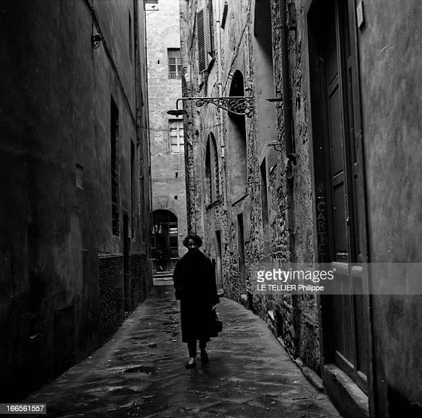 AnnaMaria Caglio And The 'Wilma Montesi' Case In Venice Florence 9 Avril 1957 Reportage sur l'affaire 'VILMA MONTESSI' et son témoin AnnaMaria CAGLIO...