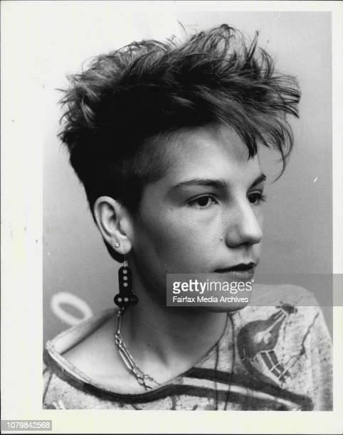 AnnaMaria Dell'oso having her hair gelled September 15 1983