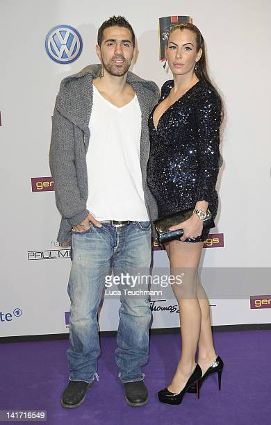 AnnaMaria Lagerblom and Bushido arrive for the Echo Awards 2012 at Palais am Funkturm on March 22 2012 in Berlin Germany