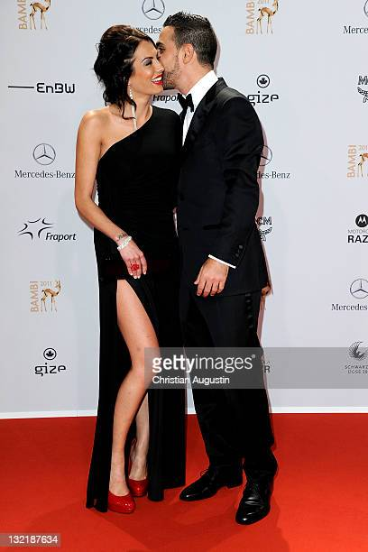 AnnaMaria Lagerblom and Bushido attend the Red Carpet for the Bambi Award 2011 ceremony at the RheinMainHallen on November 10 2011 in Wiesbaden...