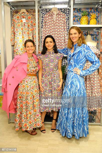 Annamaria Wilson Ana Maria Pimental and JJ Martin at Launch of La DoubleJ at Bergdorf Goodman at Bergdorf Goodman on April 20 2017 in New York City