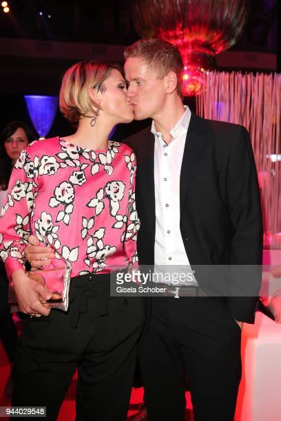 AnnaMaria Zimmermann and her husband Christian Tegeler during the 13th Live Entertainment Award 2018 at Festhalle Frankfurt on April 9 2018 in...
