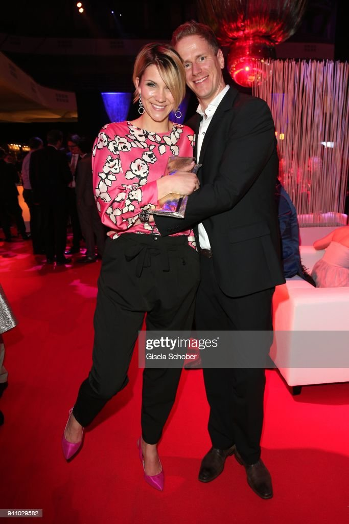 Anna-Maria Zimmermann and her husband Christian Tegeler during the 13th Live Entertainment Award 2018 ( LEA Award ) at Festhalle Frankfurt on April 9, 2018 in Frankfurt am Main, Germany.