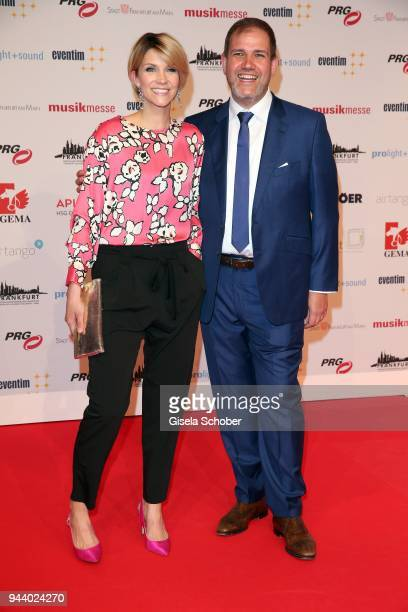 AnnaMaria Zimmermann and her manager Jan Mewes during the 13th Live Entertainment Award 2018 at Festhalle Frankfurt on April 9 2018 in Frankfurt am...