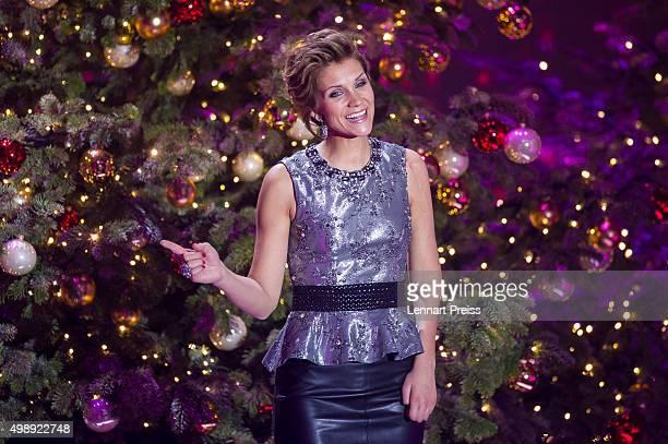 AnnaMaria Zimmermann performs during the 'Heiligabend mit Carmen Nebel' TV show at Bavaria Filmstudios on November 26 2015 in Munich Germany
