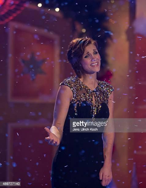 AnnaMaria Zimmermann performs during the TVShow 'Das Adventsfest der 100000 Lichter' on November 29 2014 in Suhl Germany