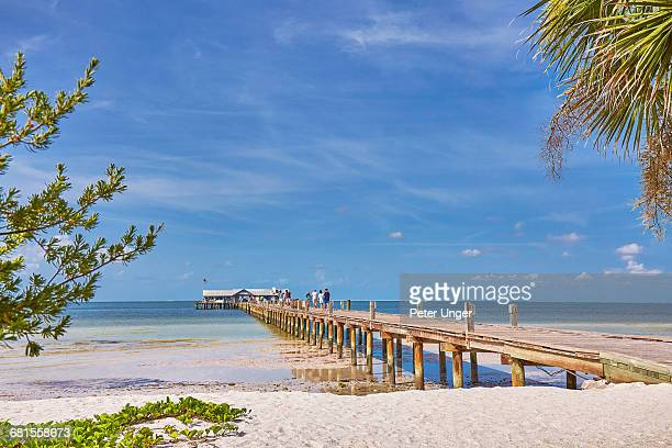 anna-maria-island-pier,florida - anna maria island stock pictures, royalty-free photos & images