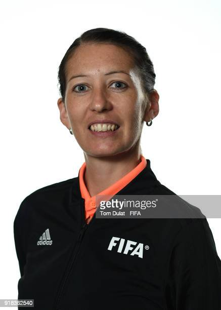 AnnaMarie Keighley of New Zealand poses for photographs during the FIFA Women's Referee Seminar on February 14 2018 in Doha Qatar