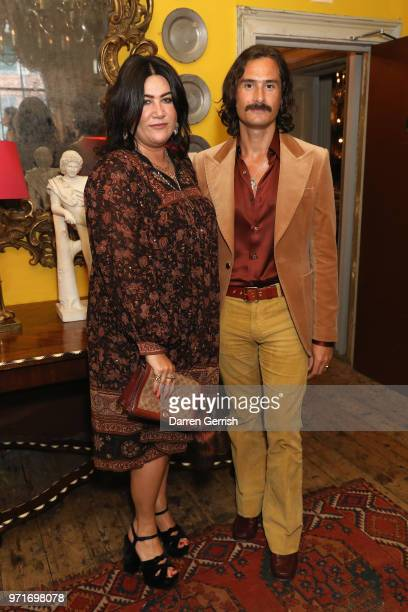AnnaMarie Scott and Ben Cobb attend the Another Man dinner to celebrate the Spring/Summer 2018 issue during London Fashion Week Men's at Brunswick...