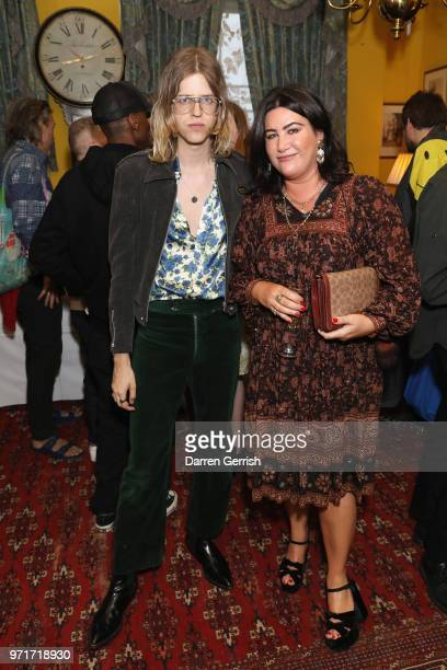 AnnaMarie Scott and Bunny Kinney attend the Another Man dinner to celebrate the Spring/Summer 2018 issue during London Fashion Week Men's at...