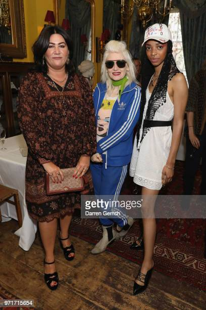 AnnaMarie Scott Pam Hogg and Naomi Kaji attend the Another Man dinner to celebrate the Spring/Summer 2018 issue during London Fashion Week Men's at...