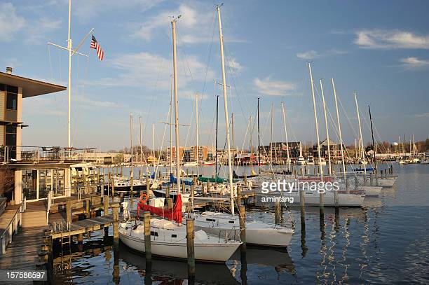 annapolis marina - annapolis stock pictures, royalty-free photos & images