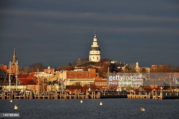 annapolis skyline - annapolis stock pictures, royalty-free photos & images