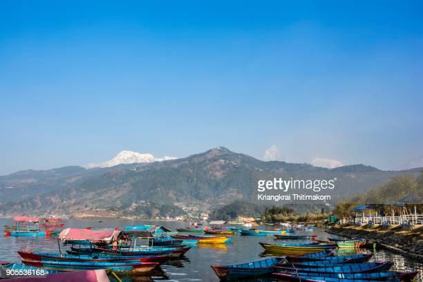 Annapurna mountain and Phewa Lake, Nepal.