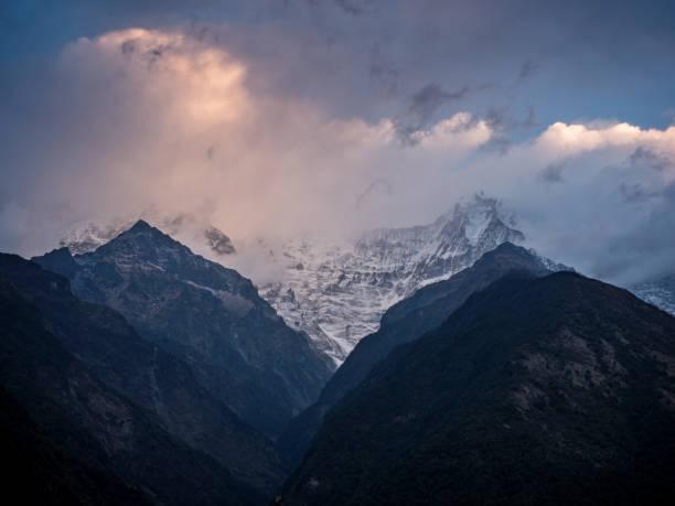 Annapurna mountain range, Nepal - March 3, 2017