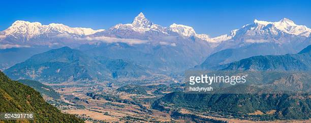 Annapurna Range and Machapuchare from Pokhara, Nepal