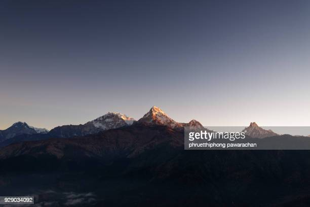 Annapurna range during sunrise, Poonhill.