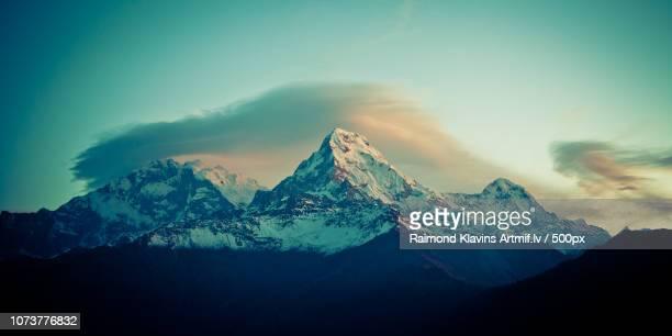 Annapurna South at sunrise in Himalayas Artmif pho